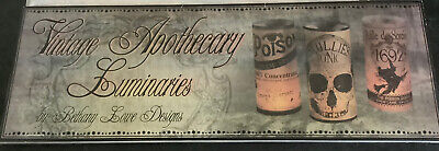 Bethany Lowe Luminaries Vintage Apothecary Halloween 3 Packages