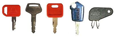 Heavy Construction Equipment Ignition Key Set 5 Keys Cat Komatsu Caterpillar Jd