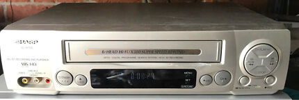 Sharp VC-H705 VCR 6 Head Hi-Fi VHS Player Video Cassette Recorder