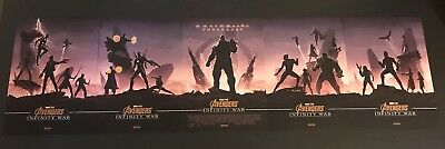 Marvel Avengers Infinity War Official Odeon Exclusive Posters x5