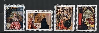 Dahomey Complete MNH Set #C63-66 Christmas, Religion Paintings Stamps