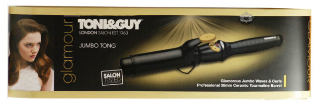 Toni & Guy Glamour Jumbo Curling Tong  Ceramic Tourmaline 38mm Barrel TGIR1921