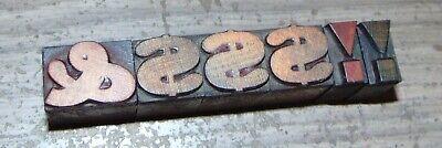 Lot Wood Letterpress Print Blocks Type 1 - 3 - 2 - 1116 Tall