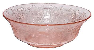 """Macbeth Evans Dogwood Pink Large Berry /  8 1/2"""" Serving Bowl"""