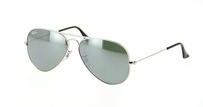 New Ray Ban Aviator RB3025 W3277 Classic Mirror Lens Silver Frame 58mm