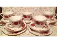 vintage rose tea set made by Royal Kent China makers. Good condition