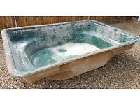 Used preformed rectangular pond liner
