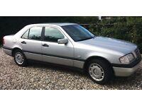 Mercedes C180 1997 silver 1.8 petrol 150k, manual, 2 owners