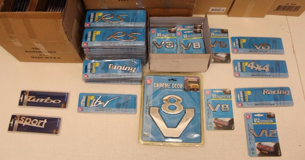 Job Lot Of Car Badges V6 V8 V12 Rs Turbo Sport Racing 16v Badges