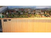 COMPLETE TRAIN LAYOUT HORNBY, TABLES ETC 10FT X 3FT 00 SCALE COST INTO THOUSANDS