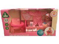 BNIB Cupcake Baby Doll and Nurture Set -Christmas or Birthday Present- Girls Toy