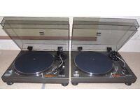Boxed GEMINI XL-400 Manual Belt-Drive Vinyl DJ Turntables.