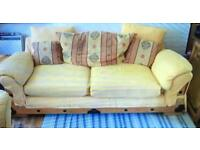 BARGAIN ONLY £35 Sofa and Chair clean tidy all cover remove