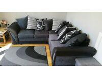 == ROYAL FURNISHING'S BRAND NEW SHANNON LEATHER CHENILLE CORNER OR 3+2 SOFA SET