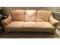 FREE 3 Seater Suede Sofa