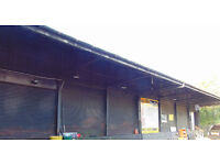 Workshops/Shutter Units Available for rental Not suitable for cars or vans. 200 sq ft