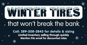 WINTER SNOW TIRES CLEARANCE SALE