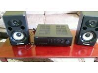 Studio monitors and amplifier