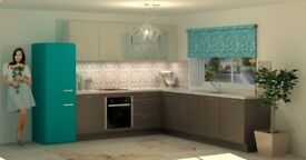 Kitchen furniture with Worktops, Appliances, Sink and Tap