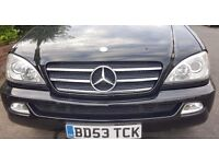 Mercedes ML 270 CDI Auto Full Leather black 2nd owner MOT Serviced only 101500m