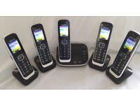5 Handset Panasonic Phone system with Answering Machine and Call Blocking
