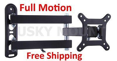 Full Motion TV Bracket Wall Mount Swivel 19 22 24 27 Inch LED LCD Flat Screen