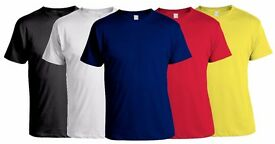 Clearance Job Lot of 1,000 Gildan, Fruit of the Loom High Quality Cotton T-Shirt
