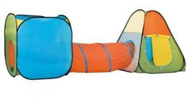 Playtive Kids' Pop-Up Play Tents with Tunnel Brand New