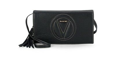 "SOLD OUT VALENTINO LENA LEATHER CROSSBODY/CLUTCH BAG, BLACK, 11.5""x6.5""x2.5"""
