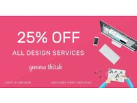 Freelance Graphic Design from £25 - Logo Design, Branding & Print Services