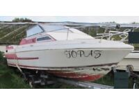 CABIN CRUISER/POWER BOAT PROJECT 21FT PICTON MARDI GRAS NO ENGINE OR GEARBOX