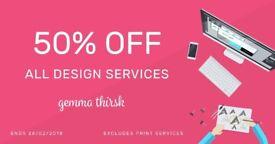 Freelance Graphic Design from £29 - Logo Design, Branding & Print Services