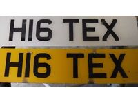 H1 TEX PRIVATE NUMBER PLATE TEL TERRY TEX ideal present