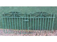 Garden Gates Driveway Gates Wrought Iron Heavy Duty Blacksmith Made £140 ono