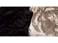 Crushed Velvet Fabric/Cloth Black & Silver, 6 lengths of 10-20ft (3-6m)