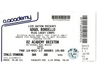 GOOL BORDELLO Concert Ticket