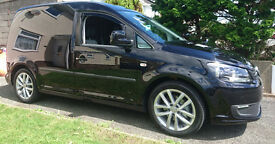 VW CADDY 1.6 tdi, Highline spec, immaculate , NO VAT, 12 mts MOT, MUST SEE, black mettalic