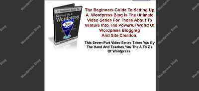 Beginners Guide To Building A Wordpress Website    Video Course For Pc On Cd Dvd