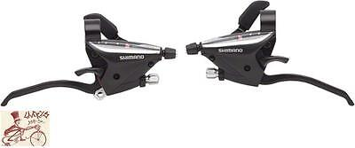 SHIMANO ST-EF65 RAPID FIRE 21 3 X 7 SPEED BLACK SHIFTER LEVER SET W/ CABLES