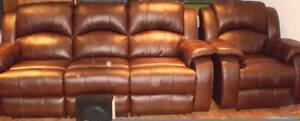 Leather Lounge Suite 3 seater recliner and 2 single recliners Salisbury Salisbury Area Preview