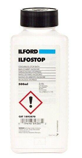 Ilford Ilfostop Stop Bath, 500ML  #1893870 | Odorless Stop Bath