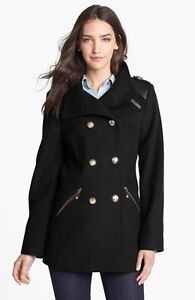 Vince Camuto Military Wool Coat XS