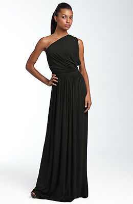 NWT Rachel Pally Black Jersey Grecian Aphrodite One Shoulder Dress, Sz XS  Grecian Jersey