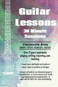 Offering Guitar Lessons In the Clarenville Area