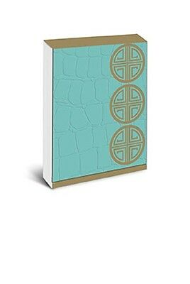 Graphique De France Pocket Note Mini Note Pad Turquoise Crocodile Luxe New