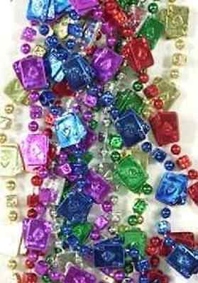 3 DOZEN (36) CASINO CARDS & DICE MARDI GRAS BEADS NECKLACES-PARTY-FREE SHIPPING - Mardi Gras Wholesale