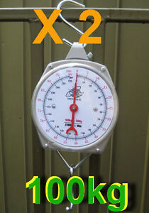 2-Units-of-Brand-New-Hanging-Metal-Scale-100-kg-N