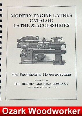Hendey Lathe Accessories Catalog Manual 74 Pages 0358
