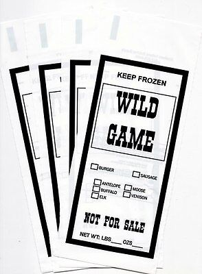 2 Lb Wild Game Ground Meat Freezer Chub Bags 100 Count