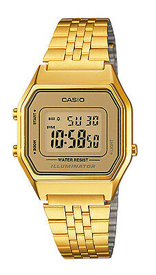 Casio LA680WGA-9D Women's Vintage Gold Tone Chronograph Alarm Digital Watch